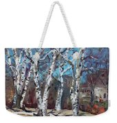 Birch Trees Next Door Weekender Tote Bag