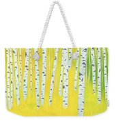 Birch Woods Weekender Tote Bag