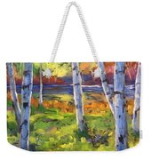 Birches 01 Weekender Tote Bag