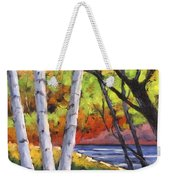 Birches 06 Weekender Tote Bag