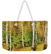 Birches And Spruces Weekender Tote Bag