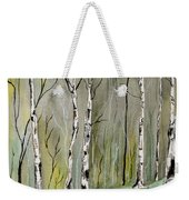 Birches Before Spring Weekender Tote Bag
