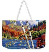 Birches By The Lake Weekender Tote Bag