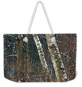 Birches During A Snowfall Weekender Tote Bag