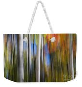 Birches In Autumn Forest Weekender Tote Bag