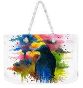 Bird 71 Crow Raven Weekender Tote Bag