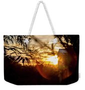 Bird At Sunset Color Weekender Tote Bag
