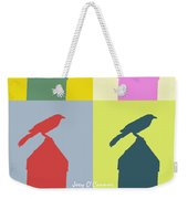 Bird At The Top - Abstract Art Weekender Tote Bag