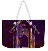 Bird Feeder Colorful Feeding Wood  Weekender Tote Bag