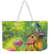 Bird House And Bluebird  Weekender Tote Bag