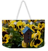 Bird House And Pansey Weekender Tote Bag