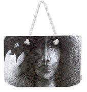 Bird In Hair  Weekender Tote Bag