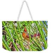 Bird In The Brush H D R Weekender Tote Bag