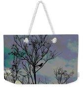 Bird In Tree Silhouette Iv Abstract Weekender Tote Bag