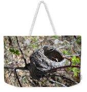 Bird Nest In Wild Rose Bush Weekender Tote Bag