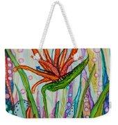 Bird Of Paradise In An Imaginary Garden Weekender Tote Bag