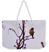 Bird On A Bud Weekender Tote Bag