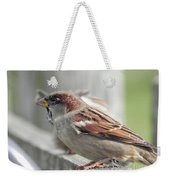 Bird On A Fence Weekender Tote Bag
