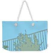 Bird On Fence Aqua II Weekender Tote Bag