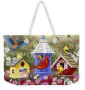 Bird Painting - Primary Colors Weekender Tote Bag