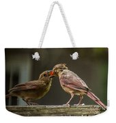 Bird Parenting Weekender Tote Bag