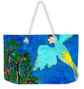 Bird People Green Woodpecker Weekender Tote Bag
