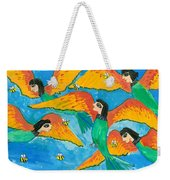 Bird People Little Green Bee Eaters Of Upper Egypt Weekender Tote Bag