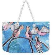 Bird People Long Tailed Tits Weekender Tote Bag