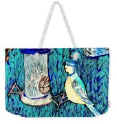 Bird People The Bluetit Family Weekender Tote Bag by Sushila Burgess