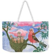 Bird People The Chaffinch Family Weekender Tote Bag