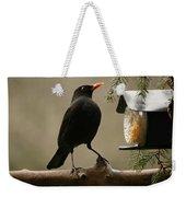 Bird Table Weekender Tote Bag