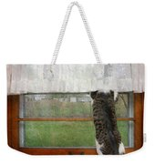 Bird Watching Kitty Cat Weekender Tote Bag