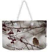 Bird With Berry Weekender Tote Bag