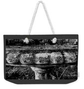 Birdbath In Black And White  Weekender Tote Bag