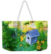 Birdhouse And Flowers Weekender Tote Bag