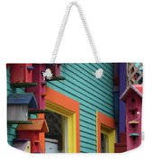 Birdhouses For Colorful Birds 3 Weekender Tote Bag