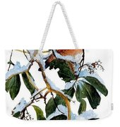 Birds 05 Varied Thrush On Arbutus Robert Bateman Sqs Robert Bateman Weekender Tote Bag