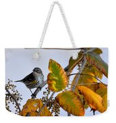 Birds And  Berries Weekender Tote Bag
