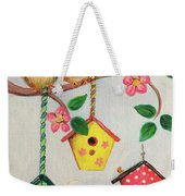 Birds And Birdhouse Weekender Tote Bag