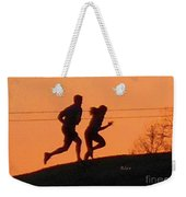 Birds And Fun At Butler Park Austin - Jogging - Sunset Run Weekender Tote Bag