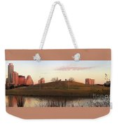 Birds And Fun At Butler Park Austin - Silhouettes 1 Panorama Weekender Tote Bag