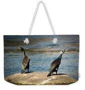 Birds And Lake Weekender Tote Bag