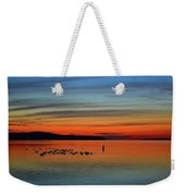 Birds At Dawn By The Buoy  Weekender Tote Bag