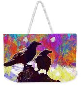 Birds Crow Black  Weekender Tote Bag