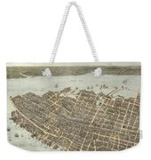 Birds Eye View Of Charleston 1872 Weekender Tote Bag