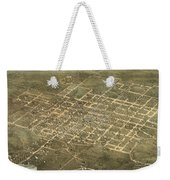 Bird's Eye View Of The City Of Raleigh, North Carolina 1872 Weekender Tote Bag