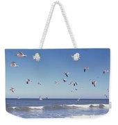 Birds Flying Over The Sea, Flagler Weekender Tote Bag