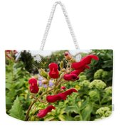 Birds In A Tree Flowers Weekender Tote Bag