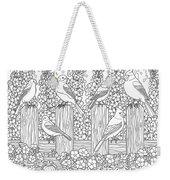 Birds In Flower Garden Coloring Page Weekender Tote Bag