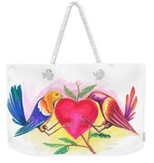 Birds In Love 01 Weekender Tote Bag